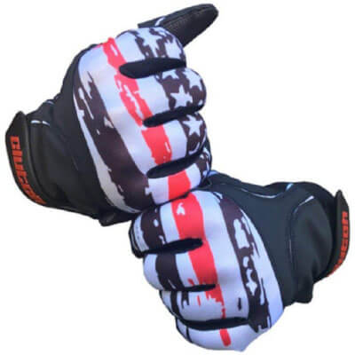 Clutch Sports American Flag Baseball and Softball Batting Gloves