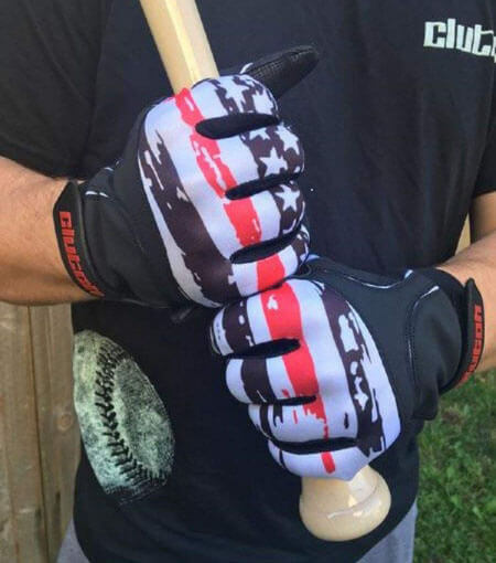 Clutch Sports American Flag Batting Gloves