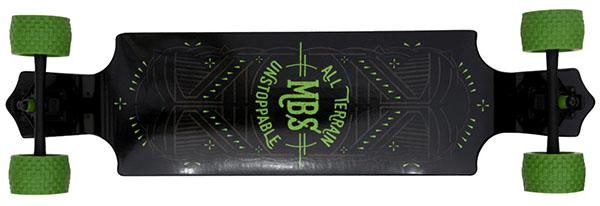 MBS 10001 39-Inch All-Terrain Drop Deck Longboard
