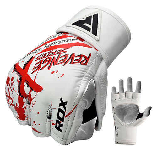 RDX T8 Revenge X Leather MMA Gloves